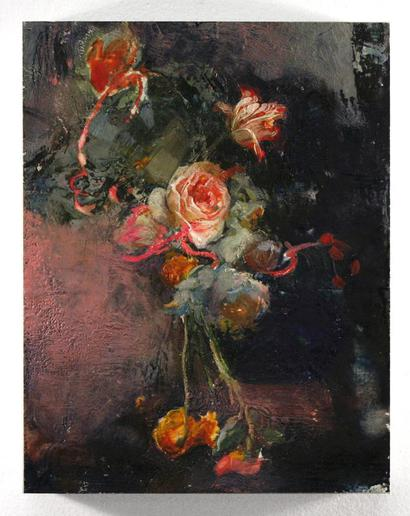 Daniel Bilodeau Semper Augustus Arranged  Encaustic and Oil on Wood  art artist